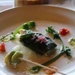 倉 - お魚料理(白身魚春の桜蒸し)