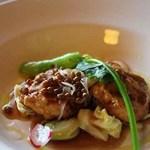 倉 - お肉料理(鶏つくねの和風赤ワインソース)