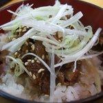 麺屋 桑田 - 豚ごはん\200
