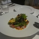 リストランテ ラストリカート - 鮮魚のカルパッチョと季節のサラダ