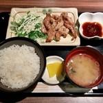 まう - せせり焼き定食(700円)