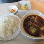 イチロク - チキンベース、きのこ+ラビオリ(2015.04.26)