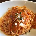 37357827 - 茄子トマトのパスタ