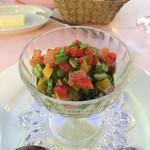 ラブレー - 蕪のムース春野菜とサーモンのタルタル。