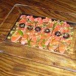 舌呑ebisu - サーモンとワサビのマリネです。オイルが効いておいしい♪