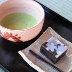 古民家カフェ 半平 - 抹茶と和菓子