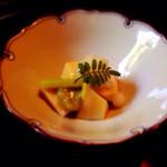 音乃居 - 料理写真:鯛の白子とタケノコ