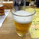 魚庭本店 - ビールでカンパ~イ♪