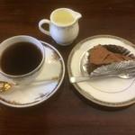 コ-ヒ-舘 寿里庵 - スウィーツセット・コーヒー、デビル(チョコ)ケーキ