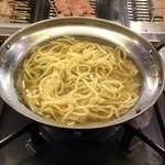 竹乃屋 - 鍋追加 ちゃんめん200円(税別)