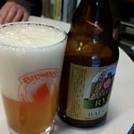 37378117 - ベアレン ライ麦ビール注いでみました。
