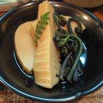 3738243 - 大多喜産竹の子とわらびの煮物