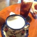 カンダコーヒー - ミルクコーヒーとアイスコーヒー