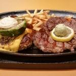 カプチーナ - ハンバーグ&200㌘ リブステーキ アボカド&チーズトッピング