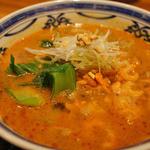 おかゆと麺のお店 粥餐庁 - 担々麺♪細麺で不思議な触感。お肉の代わりに入ってる干しエビも美味しい!