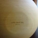 カフェ・ルーラル - お皿の裏には!