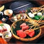 九つ井 - 料理写真:炭焼ステーキ