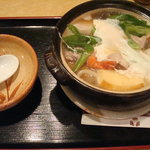 御そば処 美松 - 鍋焼うどん(1000円)
