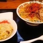 ラーメン屋 壱番亭 - 辛ネギ味噌ラーメン+半チャーハン