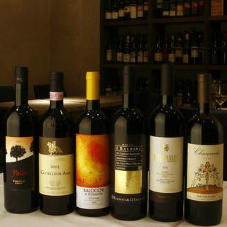 イタリア全20州から集めた約200種の厳選イタリアワイン
