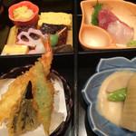 逸品料理屋 流石 - 松花堂弁当1000円 丁寧な作りたての提供です。