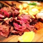 37401274 - 牛ハラミの塊肉&牛リブロースの塊肉(にくかい)グリル カット