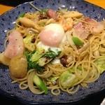 五右衛門  - イベリコ豚と春野菜づくしのよくばりスパゲッティー1100円!(税抜き)