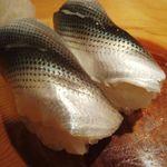 魚がし寿司 - 新子 さわやかあ~