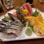 魚がし - お刺身 中トロ 青柳 シメサバ