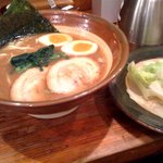 麺屋月光 - ブタラーメン ちょっとづつのせ