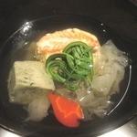 御料理 堀川 - 椀物は毛蟹よもぎ麩白キクラゲおダシが旨い!