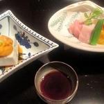 御料理 堀川 - お造りと胡麻豆腐