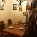 マリスコ - 静かな時間を過ごしたい方にはお勧めの半個室席。(4名様まで)