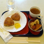 ソレイル - モーニングセット焼きおにぎり500円
