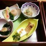 海老名 甲羅本店 - 前菜の小鉢