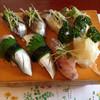 寿司の石松 - 料理写真:本日のひかり物握り寿司 2015年4月26日訪問