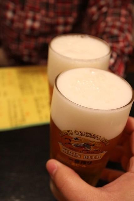 小料理 おばんです - 生ビール(460円)