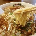 いっぽん - 麺はこんな感じ 細麺で麺カタ
