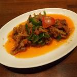 37439515 - 炒め料理セット(1220円)より・牛肉のブラードソース