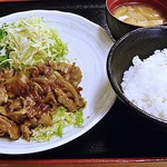 日の出牧場 - 黒豚の生姜焼き 900円 (2014/5)(^^