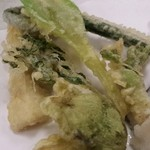 すし善 - 春野菜の天ぷら