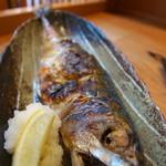 西一条 魚金 - 本日の焼き魚(さば)