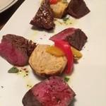 MINORIKAWA - 熟成牛もも肉の炭火焼150g。旨味が素晴らしい。
