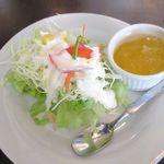 マリーン - サラダ、手作りゼリー(2015/04/28撮影)