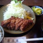 濱乃家 - 上ヒレ定食 2100円