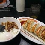 幸楽苑  - 玉丼+餃子のセット♪