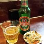 37445986 - 青島ビールとおつまみ