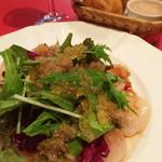 ビストロバル パリ4区 - 帆立のカルパッチョ!とびっこプチプチおーいしーい!