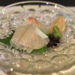 地酒と料理 高田馬場研究所 - 熟成刺身 石鯛と勘八 (2015/04)