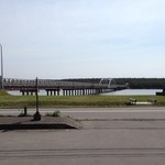 新岡商店 - 津軽十三湖の西岸 中島侑歩道橋入口 県道12号線沿いにあります